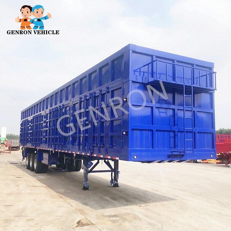 Heavy Duty 100 Tons Coal Box Semi Trailer for Mongolia