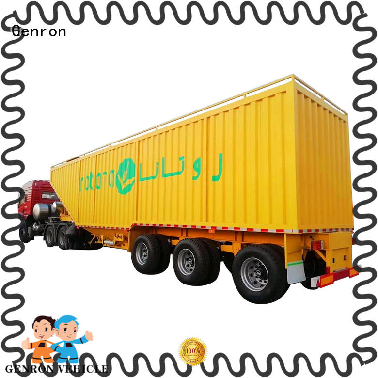 durable Steel Box Semi-trailer manufacturer for sale