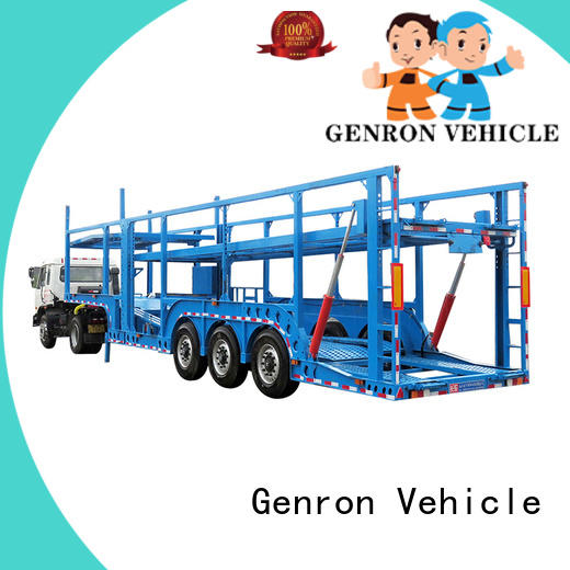 Genron cheap car transporter trailer supplier bulk buy