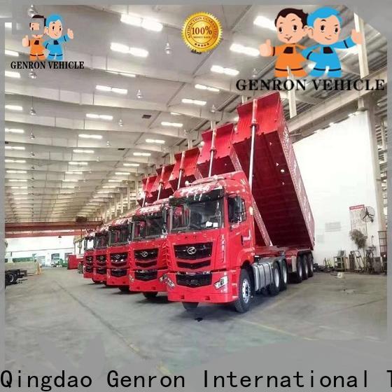 Genron new end dump trailers manufacturer bulk buy