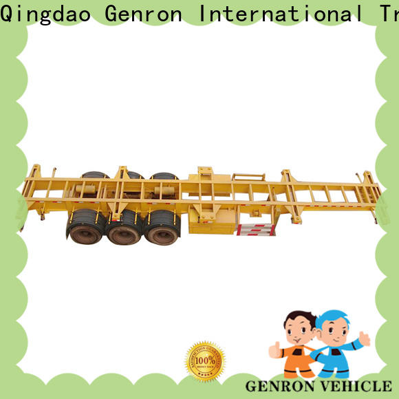 Genron custom container transport trailer best supplier for promotion