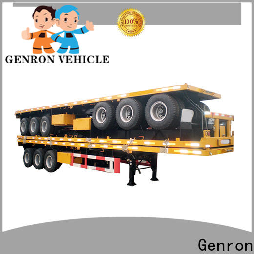 Genron cheap shipping container delivery trailer factory on sale