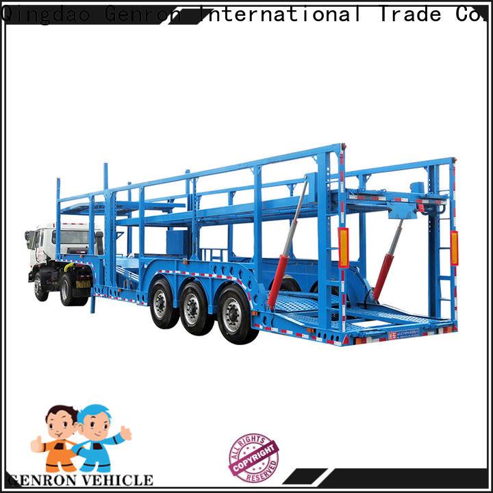 Genron low-cost vehicle hauling trailer supplier bulk buy