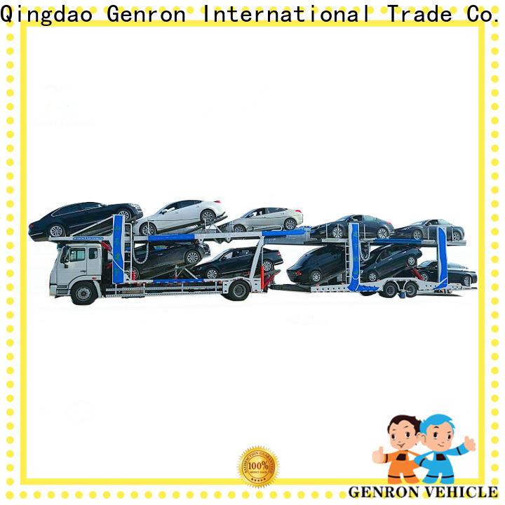 Genron best 8 car hauler trailer for sale from China for trailer