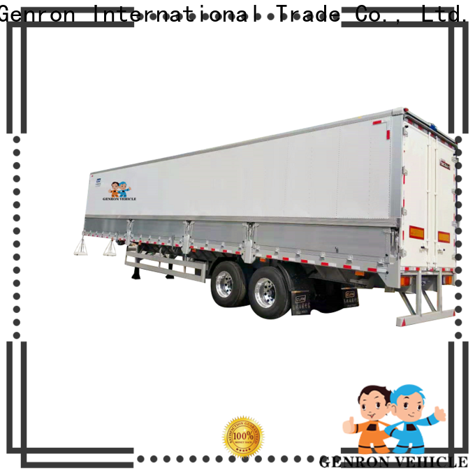 Genron reliable Curtain Semi-trailer factory for sale