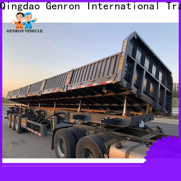 Genron quality end dump tractor trailer suppliers for sale
