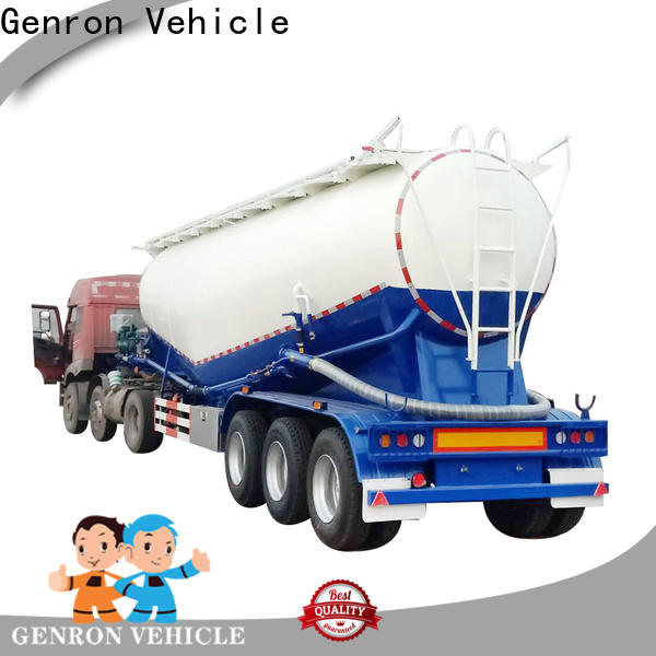 Genron top selling cement semi trailer directly sale for promotion