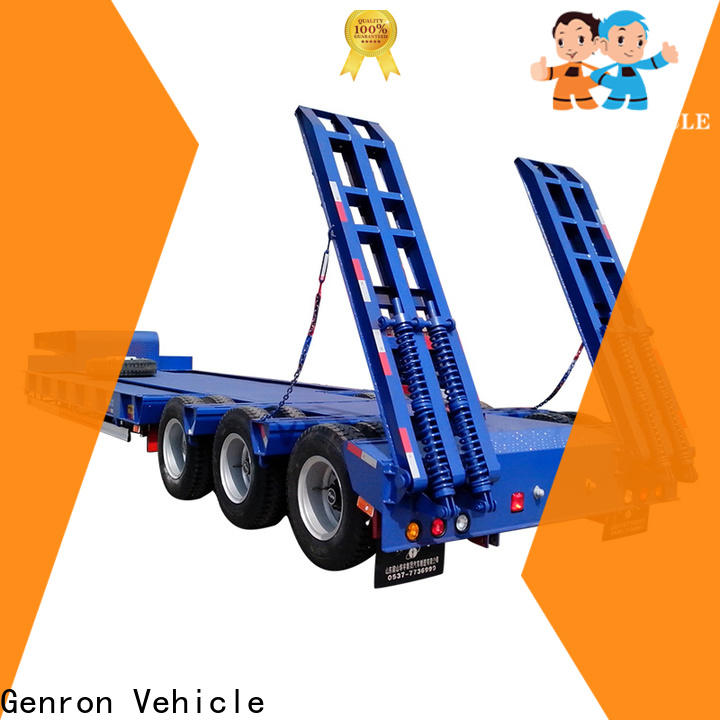 Genron low loader semi trailer suppliers on sale