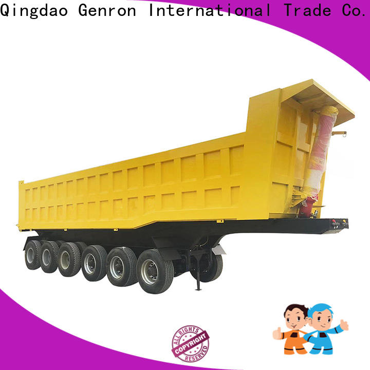 top side tipper semi trailer supplier bulk production