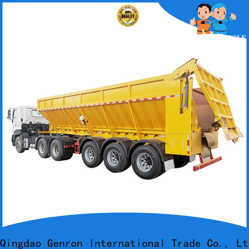 Genron dump body trailer supplier for sale