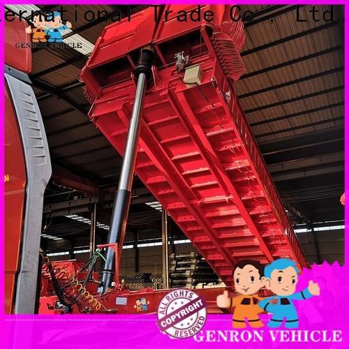 Genron reliable dump box trailer for sale directly sale bulk production