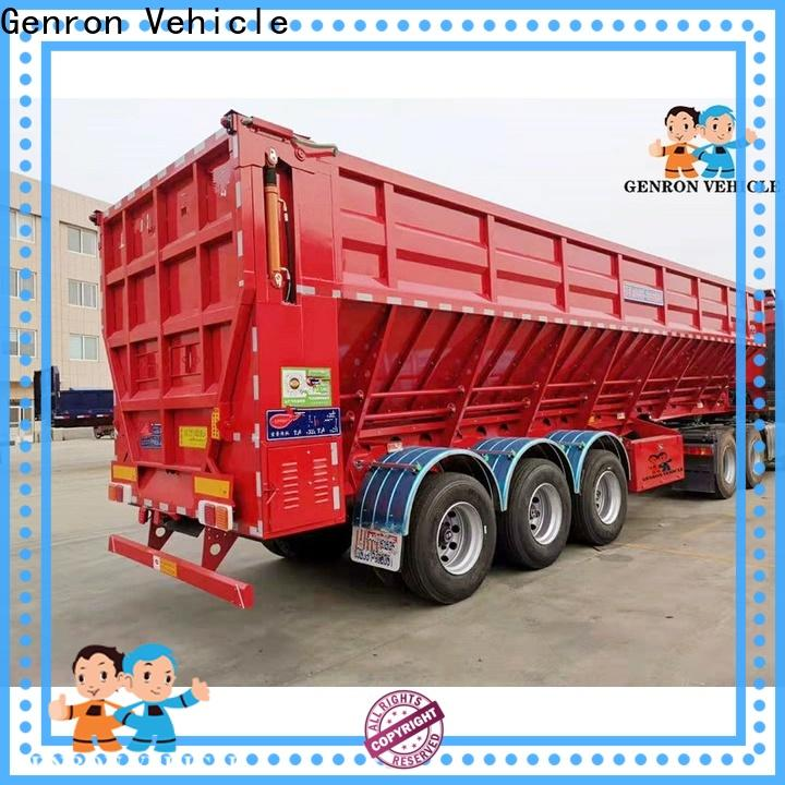 Genron practical cheap dump trailers for sale supply bulk buy