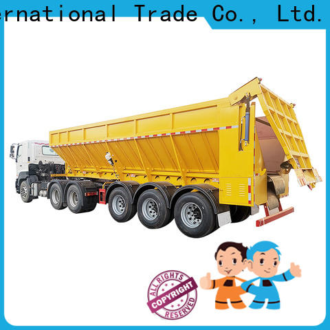 Genron dump box trailer best manufacturer bulk buy