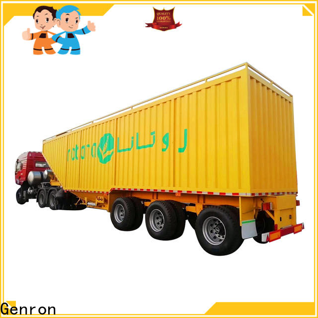 Genron promotional box semi-trailer factory on sale