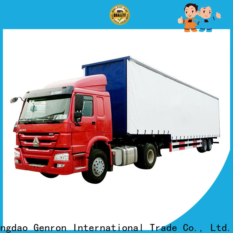 Genron promotional Side wing opening trailer company bulk production