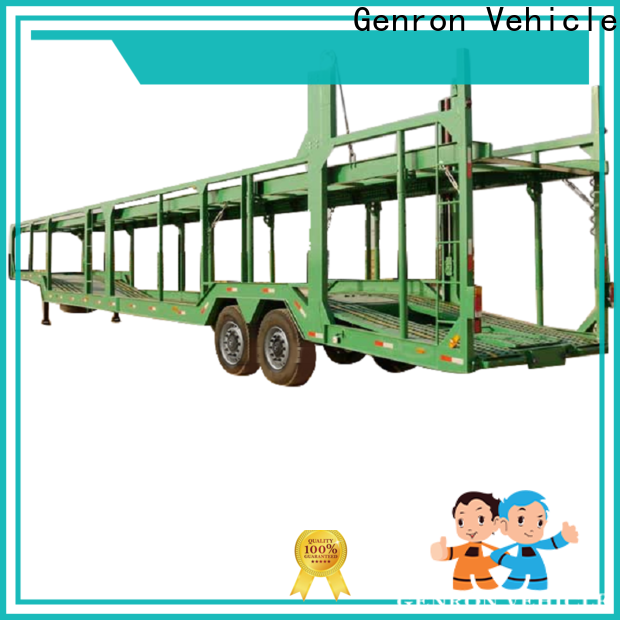 Genron best price auto carrier trailer wholesale for vehicle