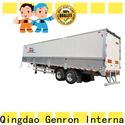 Genron top 16 foot box trailer supplier for transport goods