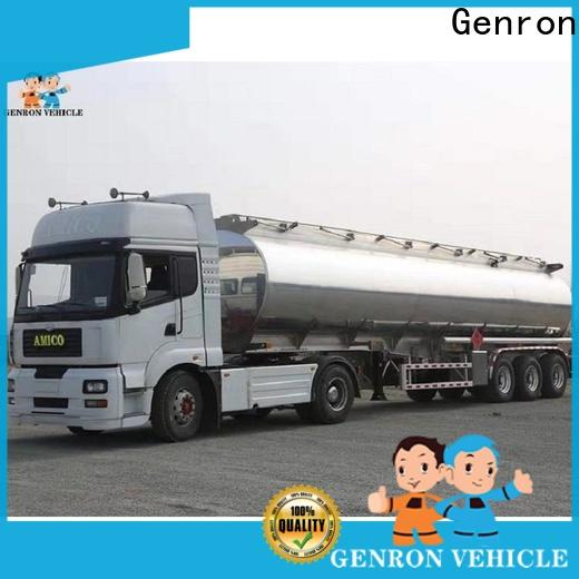 Genron top quality fuel truck trailer supplier for sale