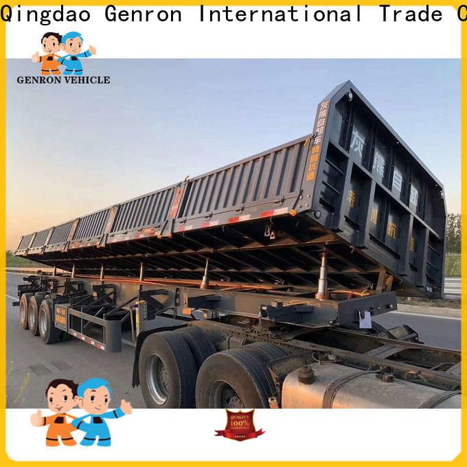 Genron truck and dump trailer with good price bulk buy