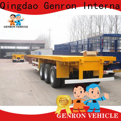 top quality 45T skeleton semi trailer inquire now for transport goods