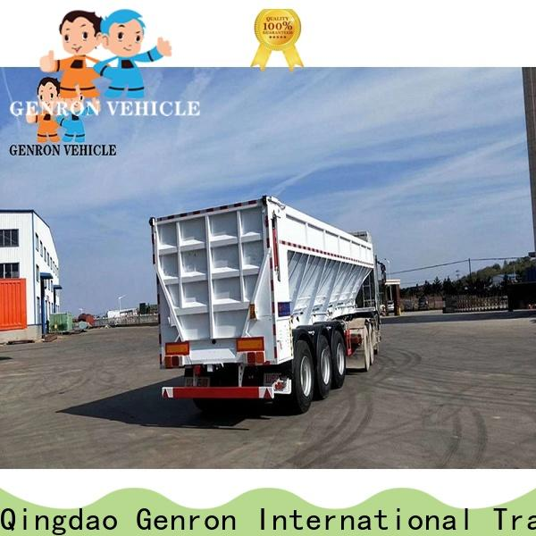 Genron customized semi trailer end dump truck supply for promotion