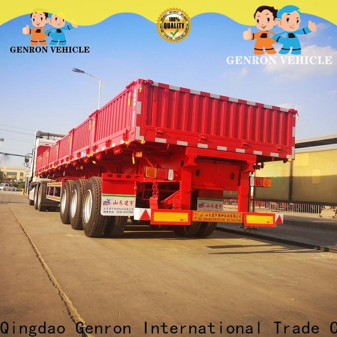 Genron hot selling Drop side semi trailer from China bulk buy