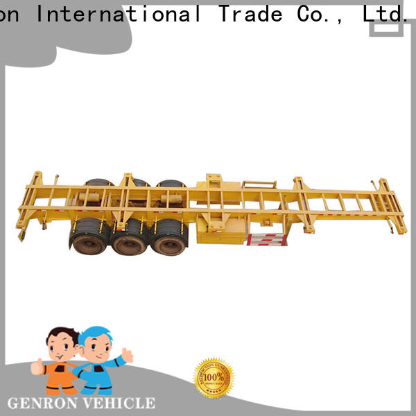 Genron high quality 3 Axle 40FT Flat Bed Semi Trailer directly sale on sale