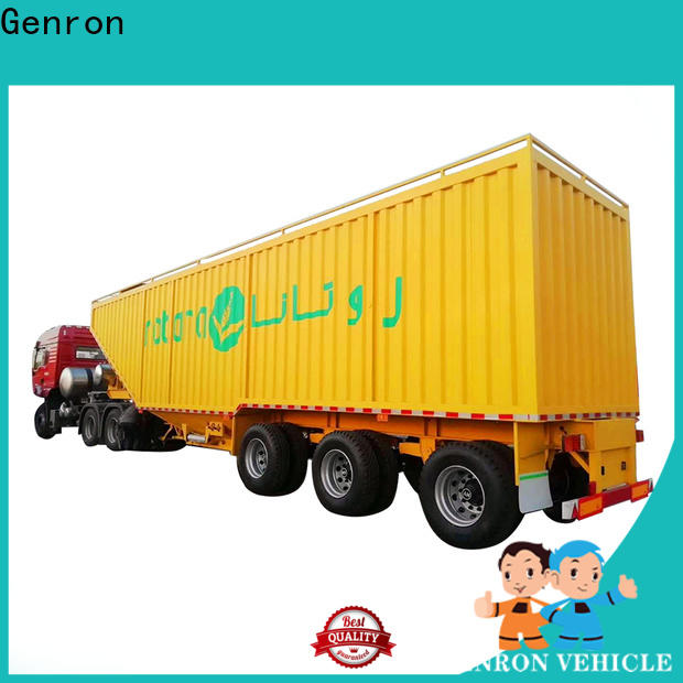 Genron worldwide Curtain Semi-trailer series bulk production