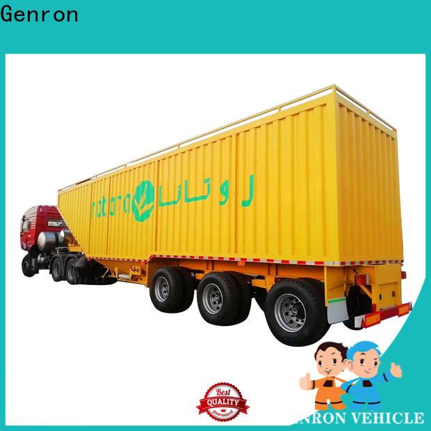 Genron worldwide Curtain Semi-trailer series bulk production