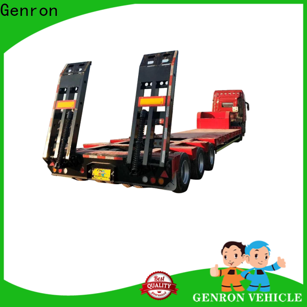reliable semi low bed trailer from China for promotion