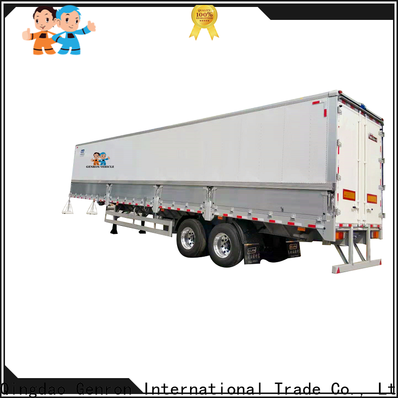 Genron high quality 16ft box trailer supplier on sale