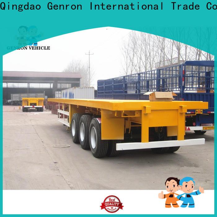 Genron best container transport trailer best manufacturer bulk production
