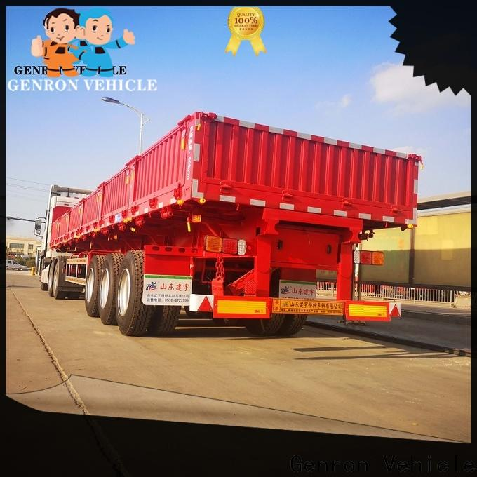 Genron hot selling best quality cargo trailers with good price for transport goods