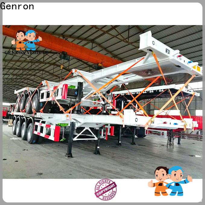 Genron flatbed semi trailer inquire now on sale
