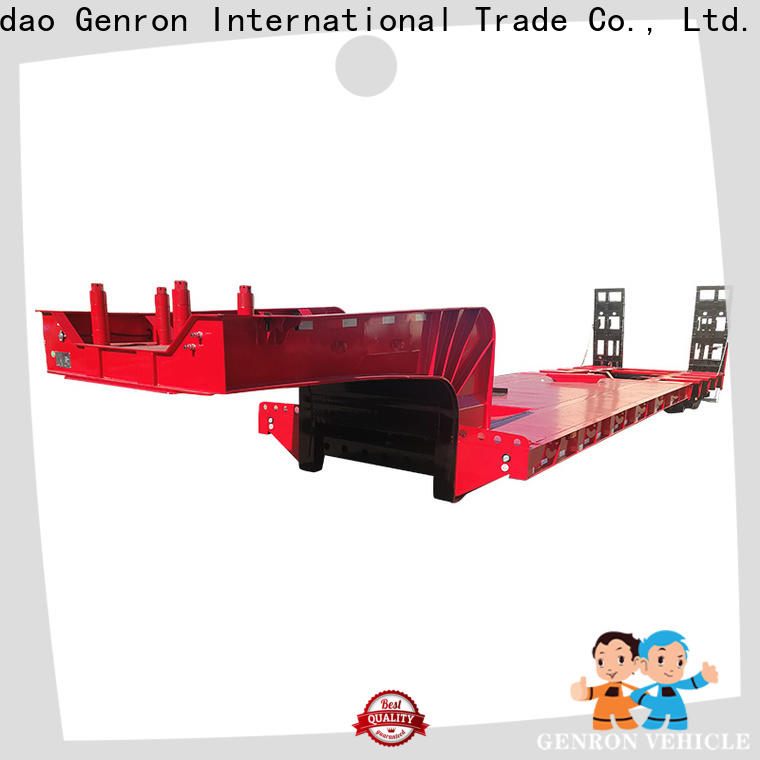 Genron drop bed low loader trailer with good price on sale