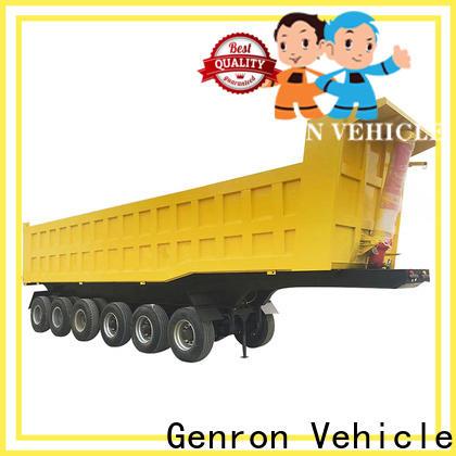 Genron rear dump semi trailer factory direct supply for trailer