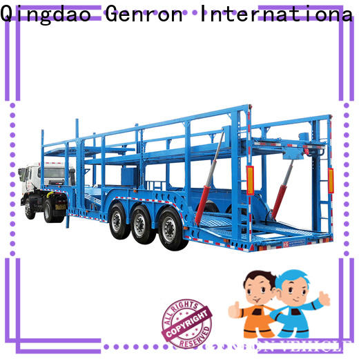 Genron open car carrier trailers supplier on sale