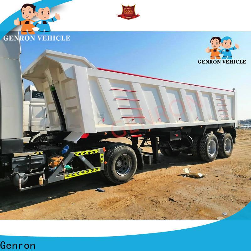 Genron low-cost dump truck trailer manufacturer for sale