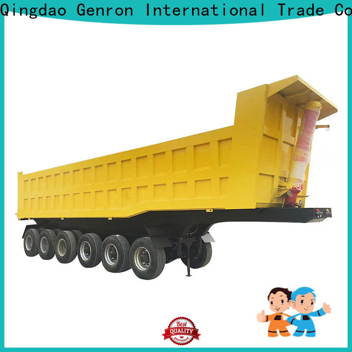 Genron side dump trailer from China for promotion